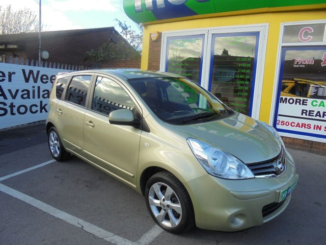 USED 2010 10 NISSAN NOTE 1.6 TEKNA 5d 110 BHP 12 MONTHS MOT.. 3 MONTHS WARRANTY... FINANCE AVAILABLE