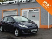 USED 2012 61 FORD FIESTA 1.2 ZETEC 5d 81 BHP Bluetooth- Voice control - Air conditioning - Low miles