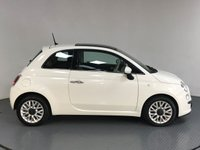 USED 2015 64 FIAT 500 0.9 TWINAIR LOUNGE DUALOGIC 3d AUTO 85 BHP SERVICE HISTORY - HALF LEATHER - PAN ROOF - BLUETOOTH - AIR CON - AUX / USB - CD PLAYER