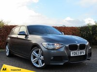 USED 2013 63 BMW 1 SERIES 2.0 118D M SPORT 5d AUTOMATIC * FULL BMW SERVICE HISTORY * BLUETOOTH *
