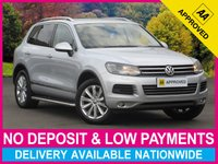USED 2014 14 VOLKSWAGEN TOUAREG 3.0 TDI SE AUTOMATIC BLUEMOTION-TECH NAV LEATHER  SAT NAV FULL LEATHER FRONT & REAR PARKING SENSORS