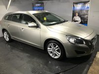 USED 2012 12 VOLVO V60 2.0 D4 SE LUX 5d 161 BHP Only 30 pounds a year road tax : Bluetooth  :  Full leather upholstery  :  Heated front seats  :  Electric/Memory driver's seat :  Climate Control/Air-Conditioning  :  Rear parking sensors
