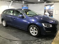 USED 2014 64 VOLVO V60 2.0 D4 BUSINESS EDITION 5d 178 BHP ZERO Road Tax  :  Bluetooth  :   Sat Nav   :   DAB Radio    :    Wi-Fi    :    Full leather upholstery    :    Rear parking sensors    : Fully stamped Volvo service history