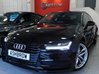 USED 2015 65 AUDI A7 SPORTBACK 3.0 TDI ULTRA S LINE 5d AUTO 215 S/S £6395 OF OPTIONS, UPGRADE TECHNOLOGY PACK INCLUDING MMI SAT NAV PLUS HEAD UP DISPLAY DIS AUDI CONNECT AUDI PHONE BOX & WIRELESS LAN, UPGRADE BLACK STYLING PACK, UPGRADE BOSE SOUND SYSTEM, UPGRADE PARKING PACK INCLUDING REAR VIEW CAMERA PARK ASSIST WITH AUTOMATIC STEERING & FRONT/REAR SENSORS, UPGRADE AMBIENT LIGHTING, UPGRADE PRIVACY GLASS, UPGRADE DE-BADGE FEATURE, FULL BLACK LEATHER, HEATED FRONT SEATS, DAB RADIO, BLUETOOTH PHONE & MUSIC, 1 OWNER, FULL AUDI HISTORY