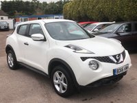 2016 NISSAN JUKE 1.6 VISIA 5d  WITH BLUETOOTH, ALLOYS AND AIRCON £8500.00