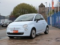 USED 2010 10 FIAT 500 1.2 POP 3d BLUETOOTH ~ MEDIA ~ ALLOYS ~ £30 ROAD TAX ~ LOW INSUREANCE ~ BLUE & ME