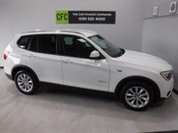USED 2015 15 BMW X3 2.0 XDRIVE20D SE 5d AUTO 188 BHP A REAL EXAMPLE OF A STUNNING AND VERY WELL LOOKED AFTER 4X4 VEHICLE , FINISHED IN GLEAMING WHITE WITH CONTRASTING BLACK HEATED LEATHER WITH PIANO BLACK INSERTS, FRONT SPOT LIGHTS, CONNECTION DRIVE, 18INCH UPGRADED ALLOYS, CRUSE CONTROL, BIG SCREEN SAT NAV,  PADDLE SHIFT AUTO GEAR BOX, VOICE COMMAND,  AUX USB LEAD, AUTO HEAD LAMPS, ELEC STEERING COLUMN , 8 CD CHANGER, BLUE TOOTH