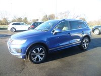 USED 2014 64 VOLKSWAGEN TOUAREG 3.0 V6 R-LINE TDI BLUEMOTION TECHNOLOGY 5d AUTO 259 BHP HEATED SEATS & STEERING WHEEL, , SAT NAV, FULL LEATHER, PANORAMIC ROOF, OPTICAL PARK,