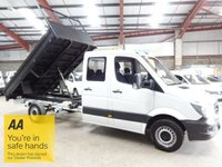 """USED 2015 15 MERCEDES-BENZ SPRINTER 2.1 313 CDI LWB DOUBLE CAB 129 BHP 6 SEAT CREW CAB TIPPER- """"YOU'RE IN SAFE HANDS"""" - AA DEALER PROMISE"""