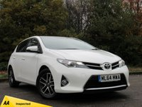 USED 2014 64 TOYOTA AURIS 1.3 DUAL VVT-I ICON PLUS 5d 98 BHP FULL SCREEN SATELLITE NAVIGATION, FULL SERVICE HISTORY