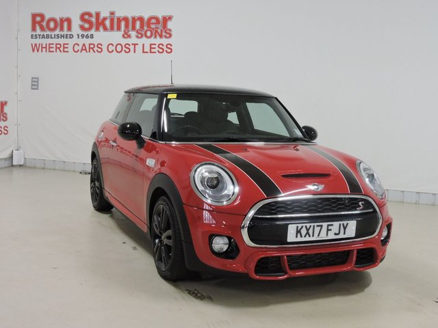 View our 2017 17 MINI HATCH COOPER 2.0 COOPER S 3d 189 BHP with JCW CHILI Pack + Media Pack XL + Climate Control + Cruise Control