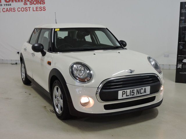 View our 2015 15 MINI HATCH ONE 1.2 ONE 5d 101 BHP with Pepper Pack + Leather Sport Steering Wheel + Rear Parking Sensors + Heated Windscreen