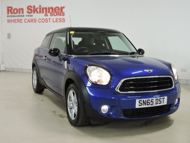View our 2015 65 MINI PACEMAN 1.6 COOPER 3d AUTO 122 BHP with MultiFunction Sport Steering Wheel + Interior Lights Pack + Rain Sensor