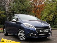 USED 2017 67 PEUGEOT 208 1.2 ALLURE 3d 82 BHP MANUFACTURERS WARRANTY 9/20