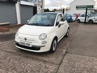 USED 2013 63 FIAT 500 1.2 LOUNGE 3d 69 BHP LOW ROAD TAX-PAN ROOF-ALLOYS-1 FORMER KEEPER-FULL HISTORY-PETROL