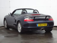 USED 2003 03 PORSCHE BOXSTER 2.7 SPYDER 2d 228 BHP WE HAVE A FILE FULL OF SERVICE HISTORY AND INVOICES AND A STAMPED SERVICE BOOK, ADDED REAR SPOILER, UPGRADED ALLOY,  BLACK ELECTRIC ROOF