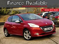USED 2013 62 PEUGEOT 208 1.4 ALLURE 3d 95 BHP LOW MILES+1 FORMER KEEPER