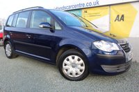 2008 VOLKSWAGEN TOURAN 1.9 S TDI BLUEMOTION 5d 103 BHP DIESEL BLUE 7 SEATS £2990.00