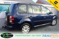 USED 2008 58 VOLKSWAGEN TOURAN 1.9 S TDI BLUEMOTION 5d 103 BHP DIESEL BLUE 7 SEATS FULL SERVICE HISTORY + CAMBELT REPLACED