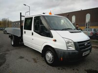 USED 2010 60 FORD TRANSIT 350 LWB 2.4 CREW CAB TIPPER JUST 19,000 MILES - DIRECT FROM MOD - BRAND NEW BODY