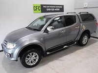 USED 2014 64 MITSUBISHI L200 2.5 DI-D 4X4 BARBARIAN LB DCB 1d 175 BHP GREAT 4 WHEEL DRIVE IN AMAZING CONDITION, GLEAMING METALIC GRAY  PAINT WORK, ONE OWNER, FULL DEALER SERVICE HISTORY, FULL HEATED LEATHER,SAT NAV, SIDE STEPS HARDTOP CANOPY , DAB RADIO CD, ELEC WINDOWS ALL ROUND , ELEC FOLDING MIRRORS, AIR CON, REVERSE CAMERA BEEN VERY WELL LOOKED AFTER BY PREVIOUS OWNER FULLY SERVICED READY TO GO