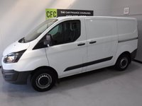 USED 2014 14 FORD TRANSIT CUSTOM 2.2 270 LR P/V 1d 99 BHP GREAT VAN  WITH ONE OWNER AND FULL DEALER HISTORY, 4 STAMPS, FINISHED IN BRIGHT WHITE,WITH IMMACULATE BODY WORK AND UNMARKED INTERIOR,  ELEC WINDOWS, REMOTE CENTRAL LOCKING, RADIO CD USB POINT , FRONT AND REAR PARKING SENSORS, CARGO LINED, BULK HEAD,  JUST SERVICED READY FOR WORK.