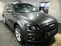 USED 2011 11 AUDI Q5 2.0 TDI QUATTRO DPF S LINE 5d 168 BHP Bluetooth  : Full leather upholstery    :    Audi Hill Descent control system    :    Rear parking sensors   : Roof-Rails   :   Fully stamped Audi service history