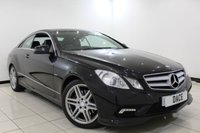 USED 2011 11 MERCEDES-BENZ E CLASS 2.1 E250 CDI BLUEEFFICIENCY SPORT 2DR AUTOMATIC 204 BHP Sat Nav MERCEDES SERVICE HISTORY + HEATED LEATHER SEATS + SATELLITE NAVIGATION + PARKING SENSOR + BLUETOOTH + CRUISE CONTROL + CLIMATE CONTROL + MULTI FUNCTION WHEEL + 18 INCH ALLOY WHEELS