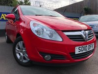 USED 2010 10 VAUXHALL CORSA 1.2 i 16v Energy 3dr (a/c) GREAT FIRST CAR
