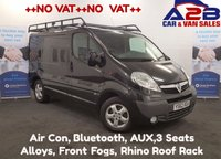 USED 2013 62 VAUXHALL VIVARO 2.0 2700 CDTI SPORTIVE 115 BHP + NO VAT + One Owner, Aux, Bluetooth, Air Con, 6 Speed Gearbox *Over The Phone Low Rate Finance Available*   *UK Delivery Can Also Be Arranged*