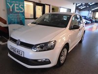 USED 2016 66 VOLKSWAGEN POLO 1.0 S AC 5d 60 BHP One private owner from new, full VW service history. Not due first Mot till September 2019 when the warranty expires. Finished in Pure White with Black cloth seats.
