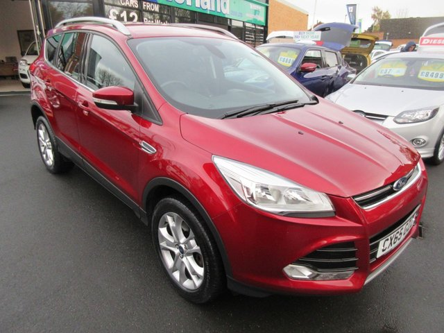 USED 2015 65 FORD KUGA 2.0 TITANIUM TDCI 5d AUTO 177 BHP CALL 01543 379066... 12 MONTHS MOT... 6 MONTHS WARRANTY... FULL FORD HISTORY... DIESEL... AUTOMATIC