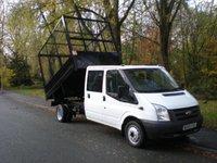 2010 FORD TRANSIT 2.4 350 DRW 1d 100 BHP TIPPER CAGE CREW CAB EX MOD £8995.00