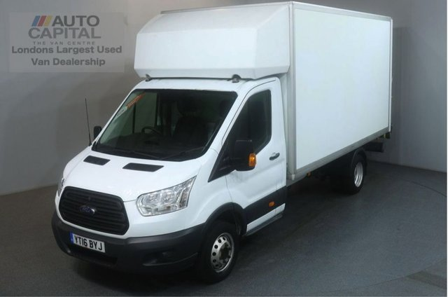2016 16 FORD TRANSIT 2.2 350 124 BHP L4 EXTRA LWB TAIL LIFT FITTED LUTON VAN TWIN WHEELER 13.7 FOOT BED