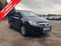 USED 2011 61 VAUXHALL ZAFIRA 1.6 EXCITE 5d 113 BHP Just 2 Owners and just 38,666 miles, this is a stunning 7 Seat Vauxhall Zafira Excite with an amazing spec including SAT NAV, Privacy Glass, Bluetooth, Air Conditioning, Electric Windows and Wing Mirrors, Leather Multi Functional Steering Wheel, Alloys, extensive service history having last been serviced in November 2018 and comes with 2 Keys and a Free Warranty. Nationwide Delivery Available. Finance Available at 9.9% APR Representative.