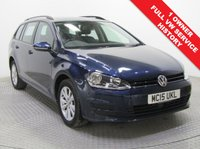 USED 2015 15 VOLKSWAGEN GOLF 1.4 SE TSI BLUEMOTION TECHNOLOGY DSG 5d AUTO 124 BHP 1 Owner, Full VW Service History this is a beautiful VW Golf SE AUTO Estate in metallic Midnight Blue and comes with a great spec including Adaptive Cruise Control, , Reverse Parking Sensors, Bluetooth, Air Conditioning, Auto Headlights, DAB Radio and four different driving Modes; ECO, Normal, Sport and Individual, Alloys, only £30 a year Road Fund Licence and an MOT until 18th June 2019. Nationwide Delivery Available. Finance Available at 9.9% APR representative.
