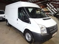 USED 2013 13 FORD TRANSIT 2.2 350 125 BHP LWB SEMI HI ROOF VAN - AIR CON & LOW MILEAGE - AIR CONDITIONING & THE AA DEALER PROMISE