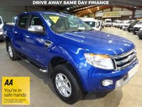 "USED 2015 65 FORD RANGER 2.2 LIMITED 4X4 DCB TDCI  148 BHP-ONE OWNER-AIR CON- REAR CAMERA ""YOU'RE IN SAFE HANDS"" - AA DEALER PROMISE"