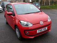 USED 2015 15 VOLKSWAGEN UP 1.0 MOVE UP 5d 59 BHP 2015 VOLKSWAGEN MOVE UP! 1.0 16,000 MILES 5 DR , TORNADO RED, DAB Radio, SAT NAV. WINTER PACK, PARKING SENSORS. £20 RFL,1 OWNER