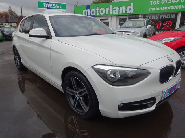 USED 2012 12 BMW 1 SERIES 2.0 118D SPORT 5d 141 BHP **JUST ARRIVED**FULL BLACK LEATHER INTERIOR**FINANCE TODAY..01543 877320