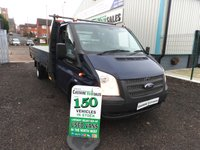 2013 FORD TRANSIT 2.2 350 155 BHP TWIN REAR WHEEL DROPSIDE NO VAT TO PAY  £11495.00