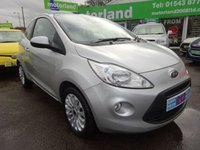 USED 2014 64 FORD KA 1.2 ZETEC 3d 69 BHP **JUST ARRIVED...**ONLY 9,000 MILES FROM NEW...NO DEPOSIT DEALS...01543 877320