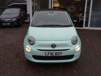 USED 2016 16 FIAT 500 1.2 CONVERTIBLE POP 3d 69 BHP NEW SHAPE + TELEPHONE/BLUETOOTH Low Mileage, Full Service History, Serviced by ourselves, One Lady Owner from new, Minimum 8 months MOT, Great on fuel economy! Only £20 Road Tax! Convertible. Balance of Fiat Warranty until March 2019, New Shape
