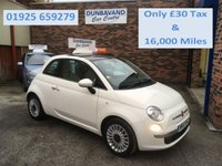 2012 FIAT 500 1.2 LOUNGE 3d 69 BHP £5299.00