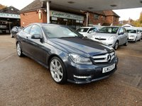 USED 2013 13 MERCEDES-BENZ C CLASS 1.6 C180 BLUEEFFICIENCY AMG SPORT 2d AUTO 154 BHP SAT NAV,HEATED SEATS,SERVICE HISTORY,PARKING SENSORS