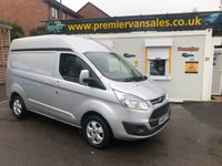 2015 FORD TRANSIT CUSTOM 2.2 TDCI, 125 BHP, 270 LIMITED, SHORT WHEEL BASE, SEMI HIGH ROOF, TOP SPEC, ALLOYS, AIR CON, FULL FORD SERVICE HISTORY £10500.00