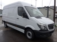 2013 MERCEDES-BENZ SPRINTER 313 CDI MWB HI ROOF, 130 BHP [EURO 5], 1 COMPANY OWNER £SOLD
