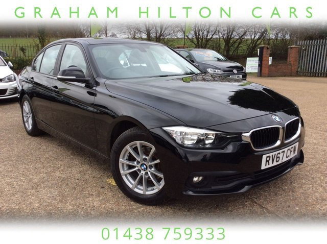 USED 2017 67 BMW 3 SERIES 2.0 320D ED PLUS 4d AUTO 161 BHP ONE OWNER, LEATHER, HEATED FRONT SEATS, SAT NAV, BLUETOOTH, AUTOMATIC HEADLIGHTS & WIPERS, PARKING SENSORS, TWO SERVICES, JUST BEEN SERVICED