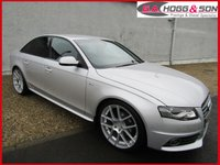 USED 2012 12 AUDI A4 2.0 TDI S LINE 4dr 136 BHP *BLACK EDITION STYLING PACK* **£30 PER YEAR ROAD TAX**