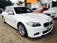 USED 2014 63 BMW 5 SERIES 2.0 520D M SPORT TOURING 5d AUTO 181 BHP